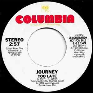 Journey - Too Late Musikalbum